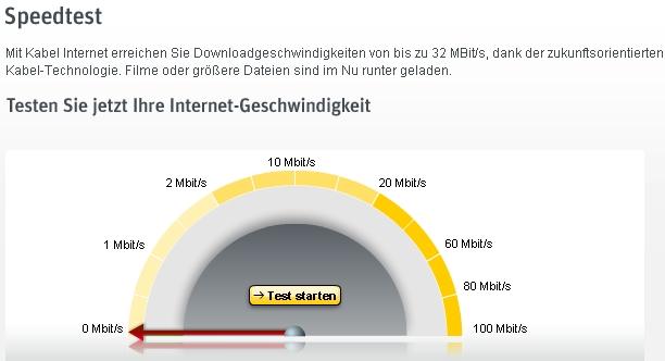 Speedtest jetzt bis 100MBit