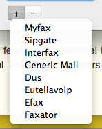 Unterstützte Online-Fax-Dienste