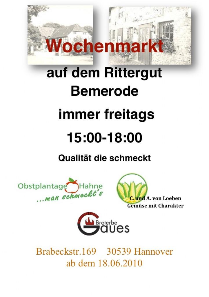 Wochenmarkt Ritterhof Bemerode